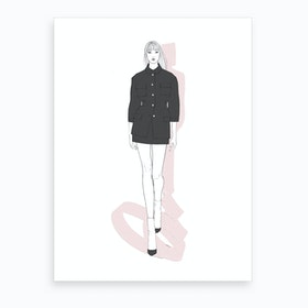 Edgy Chic Art Print