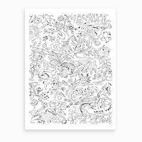 Japanese Florals Art Print