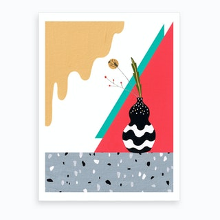 Abstract Terrazzo Dream Art Print