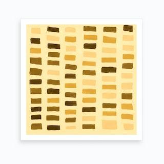 Painted Color Block Window Pane In Yellow Art Print