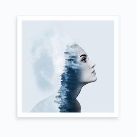 Blue Dreams Sq Art Print