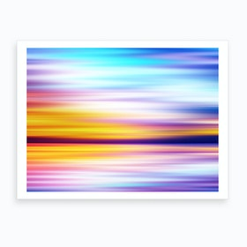 Abstract Sunset X Art Print