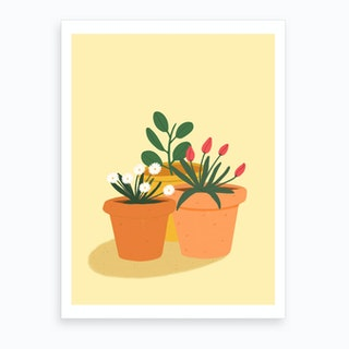 Garden Plants Art Print