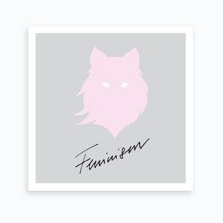 Feminism Pink Grey 2 Art Print