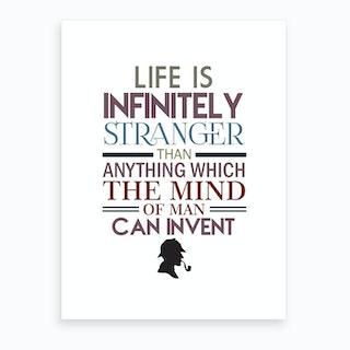 Sherlock Holmes Quote Art Print