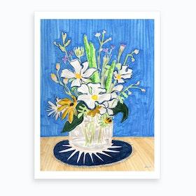 Still Life With Daisies  Art Print
