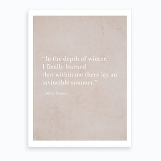 An Invincible Summer By Camus Art Print