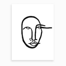Faces 11 Art Print