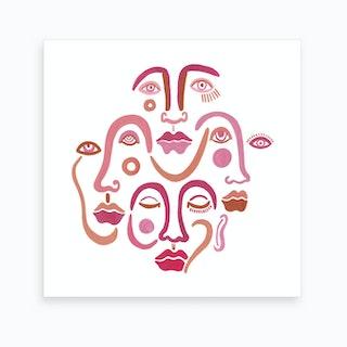 Rose Tinted Emotions Art Print