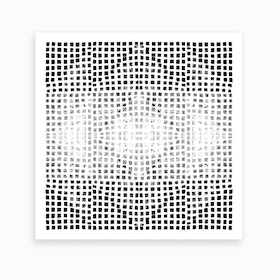 Gods Eye Block Print In Black And White Art Print