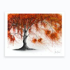 Crisp Amber Tree Art Print