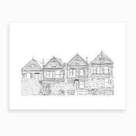 San Francisco Houses Art Print