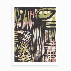 Japanese Abstract Print 5 Art Print