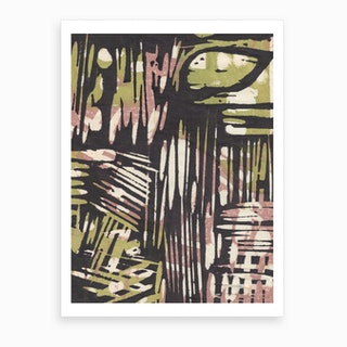 Japanese Abstract Print 5 Art Print