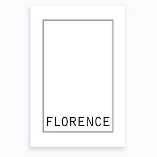 City Lights Florence Art Print