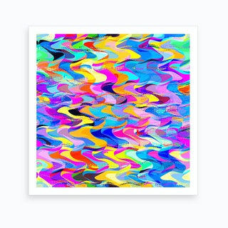 Abstract Busy Waves Art Print