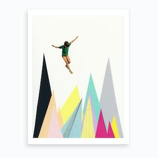 Mountain Jump Art Print