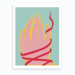 Lacey Hands Art Print