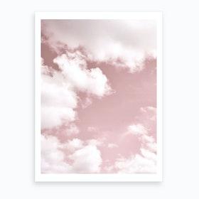 Blush Sky Art Print
