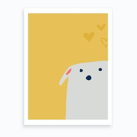 Cute Dog Art Print