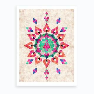 Bohemian Kilim Star Art Print