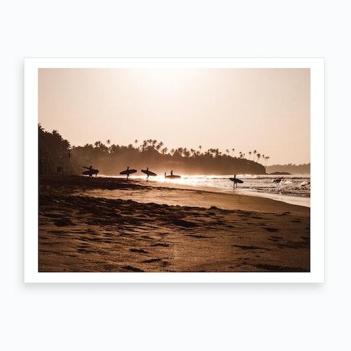 Morning Beach 2 Art Print
