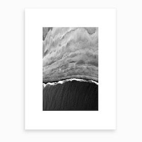 Black Ocean Art Print