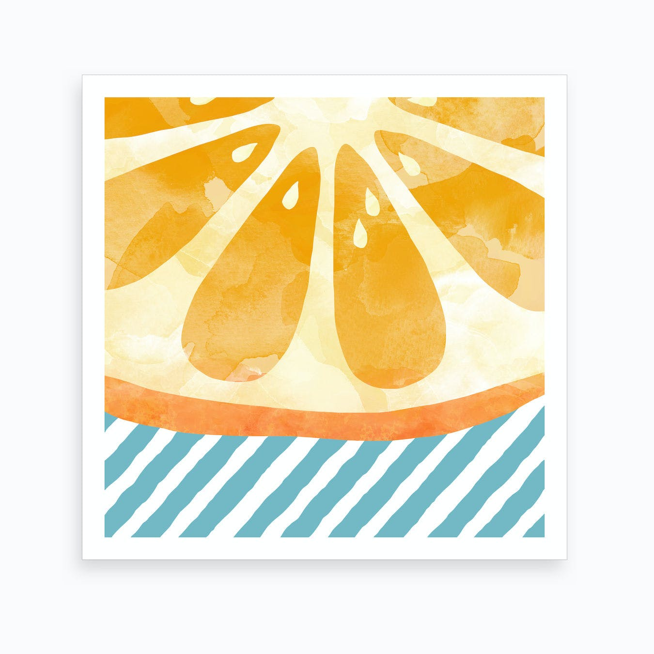 Orange Abstract Square Art Print