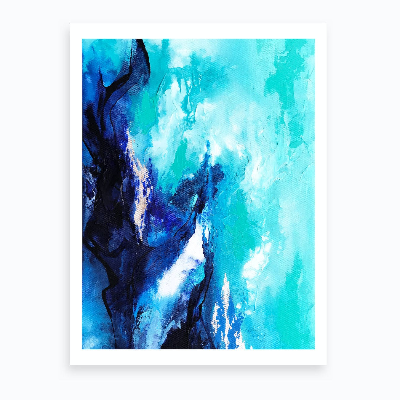 Ocean Bloom Art Print