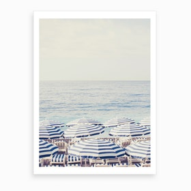 Riviera Umbrella Art Print