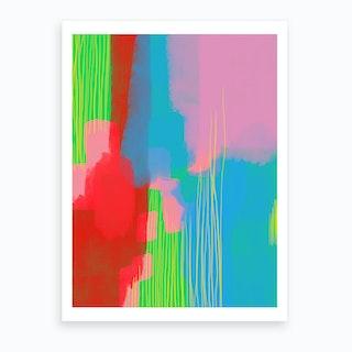 Paint Smear Art Print
