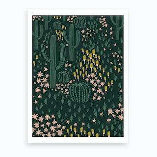 Cactus Green Art Print