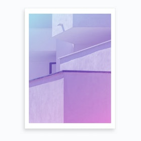Abstract Geometric Architecture Art Print