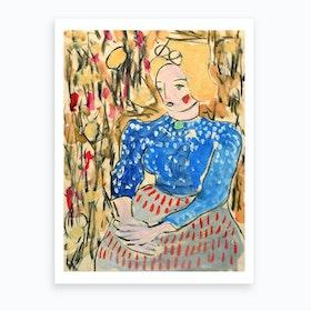 Sitter In The Field Art Print