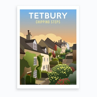 Tetbury Chipping Steps Art Print