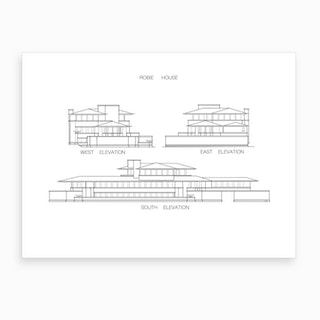 Robie House Elevation Art Print