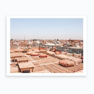 Roof Top View Of Marrakech Morocco 2 Art Print