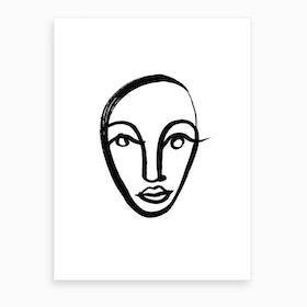 Face 4 Art Print