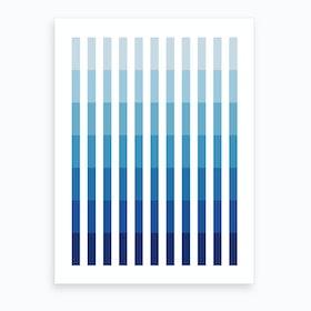 Blue Up Art Print