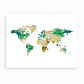 Artistic World Map I Art Print