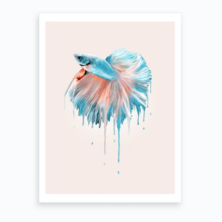 Melting Fish Art Print