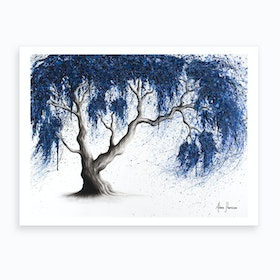 Blue Dream Tree  Art Print