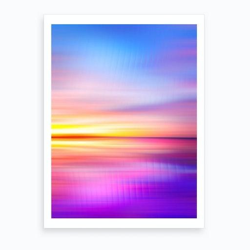 Abstract Sunset VII Art Print