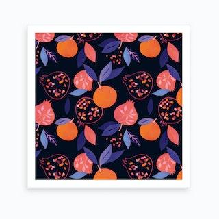 Fruit Gathering Art Print