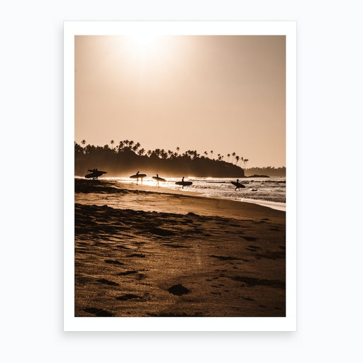 Morning Beach 1 Art Print