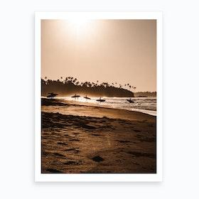 Morning Beach 1 Art Print