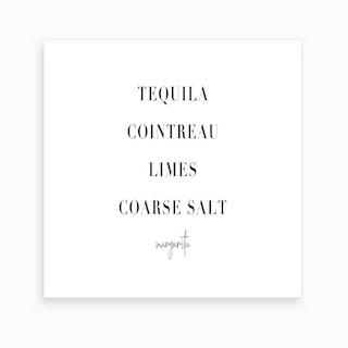 Margarita Cocktail Recipe Art Print