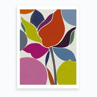 Printed Tulip Art Print