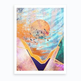 Abstract Sunset Vi Art Print