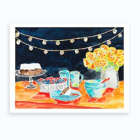 Night Party Art Print